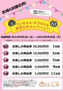 第34弾お迎えキャンペーン開催 第55回イベント ふしみ宮城 TVCM2021/09